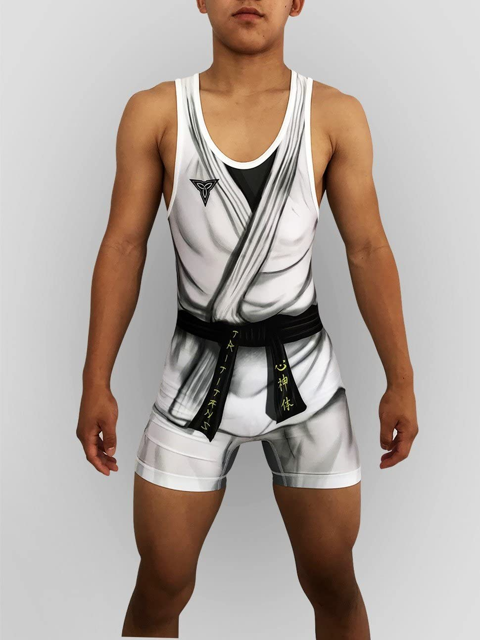 TRI-TITANS Haduken Street Fighter Wrestling Singlet Folkstyle Youths and Adult Mens Sizes
