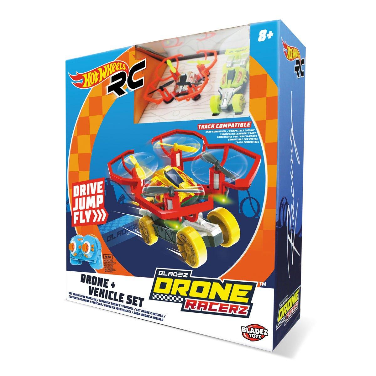 Hot Wheels-63568 Coche y Dron, Color Rojo (63568: Amazon.es ...