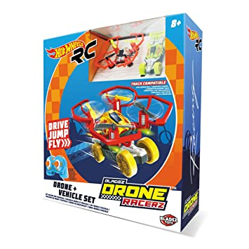 Hot Wheels-63568 Coche y Dron, Color Rojo (63568: Amazon.es ...
