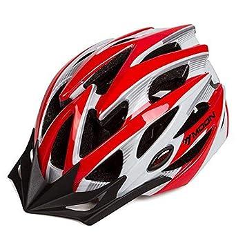 Asvert Casco Bicicleta Hombre Carretera MTB Visera PC+EPS Doble ...