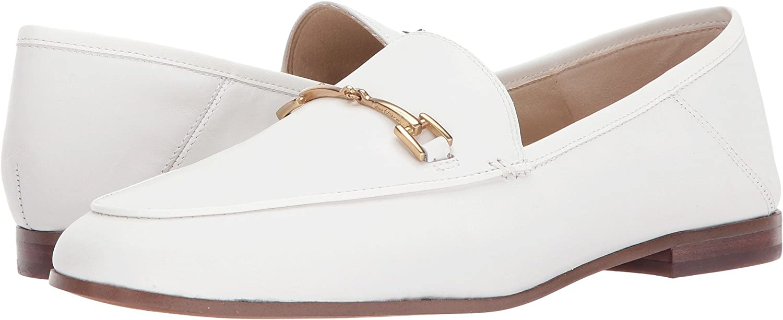 Bright White Leather Sam Edelman Women's Loriane Loafer Flats