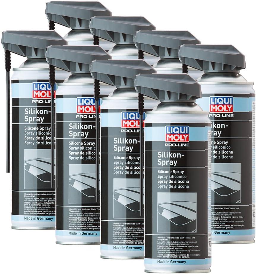 8x Liqui Moly 7389 Pro Line Silikon Spray Kunststoff Metall Gummi Holz 400ml Auto