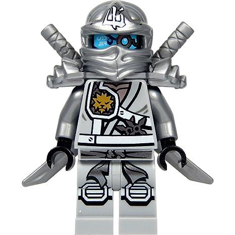 LEGO Ninjago : Zane minifigure Titanium (plata Ninja) con la ...