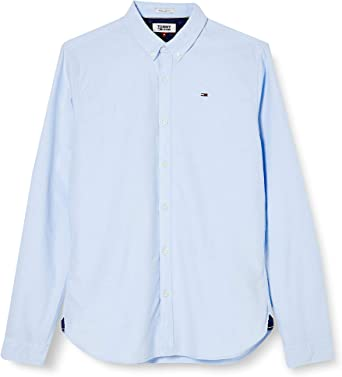 Tommy Jeans Hombre Basic Solid Camisa Manga Larga Normal: Amazon.es: Ropa y accesorios
