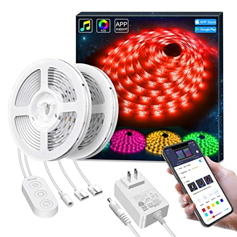 half off 94192 6d8b7 LED Strip Lights Phone Control, Govee 32.8ft Waterproof Wireless Led Light  Strip Kit, WiFi Music Sync Smart RGB Light Strip Compatible with Alexa ...