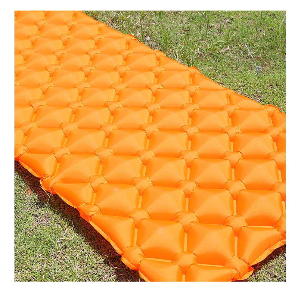 Ultraleichtes aufblasbares Kissen im Freien Einzelne Mittagspause Ei Nest Luftkissen Feuchtigkeit Camping Matte(Orange)
