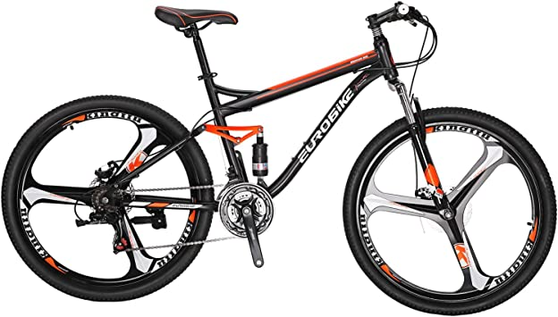"""Details about  /Mountain Bike 26/"""" Front Suspension Bicycle 21 Speed MTB Mens bikes Mag Wheels"""