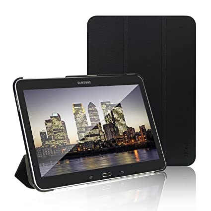 JETech Funda Compatible Samsung Galaxy Tab 4 10.1″, Carcasa con Soporte Función, Auto-Sueño / Estela, Negro