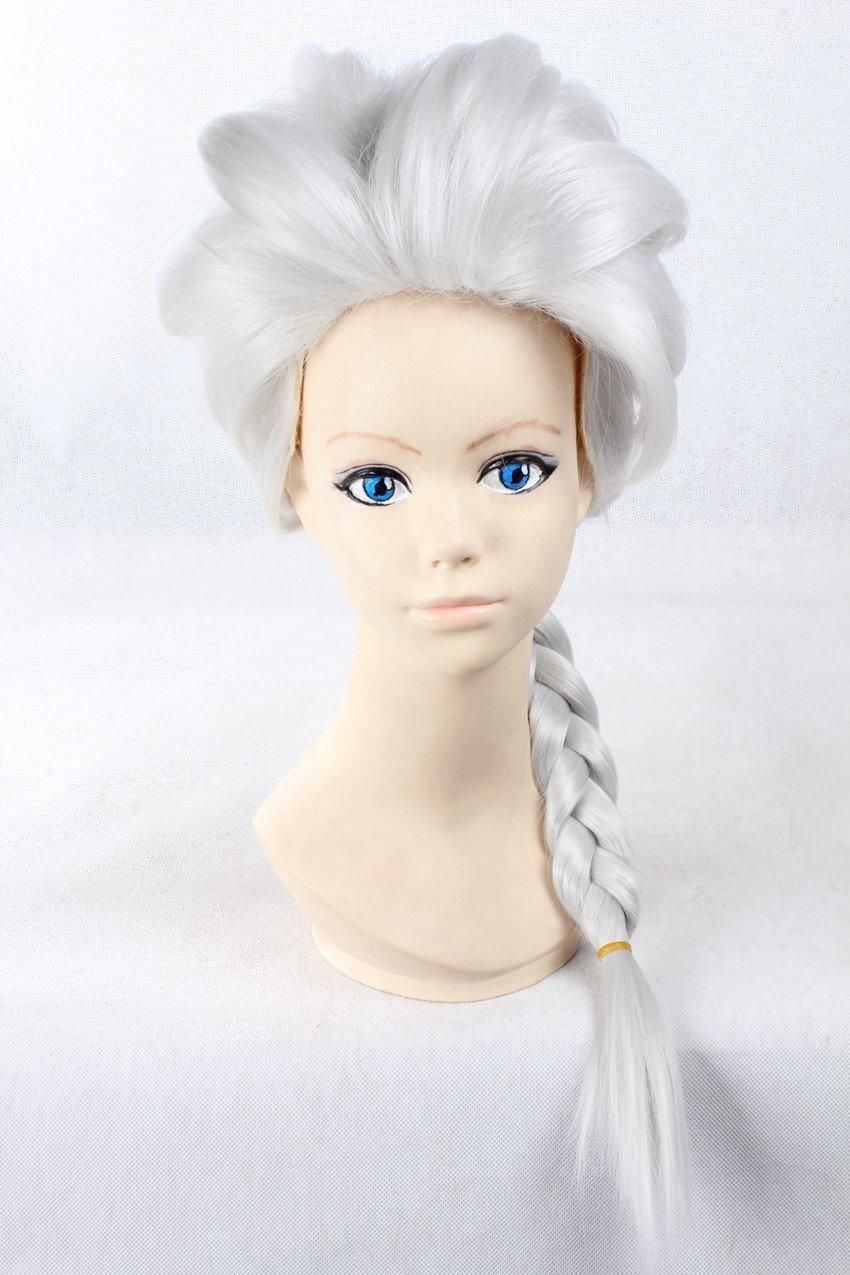 Frozen - Peluca de Princesa Elsa. Color plateado, con trenza: Amazon.es: Electrónica