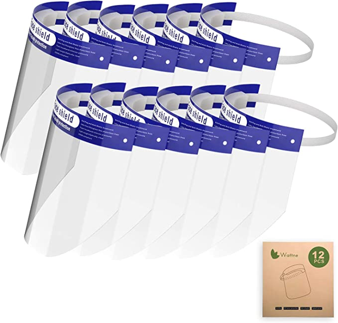 EG/_ 1pcs Transparent Reusable Adjustable Mouth Shield Anti-fog Face Mask