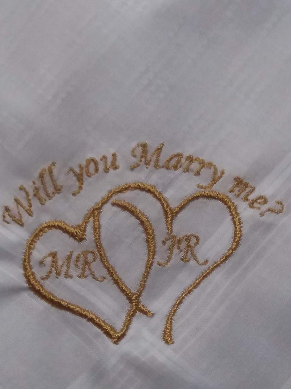 - Set of 3 Ladies Hankies Valentine B I Love You Monogrammed Hanky