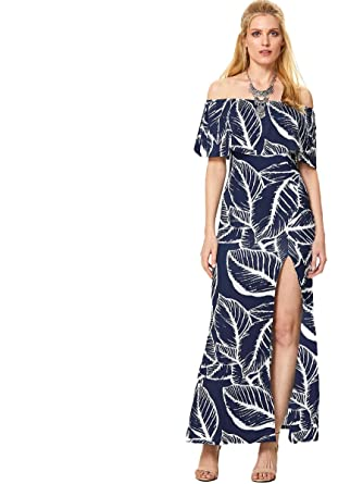 46e280dec017 Floerns Women s Off Shoulder Ruffle Party Sexy Bodycon Midi Summer Dresses  at Amazon Women s Clothing store