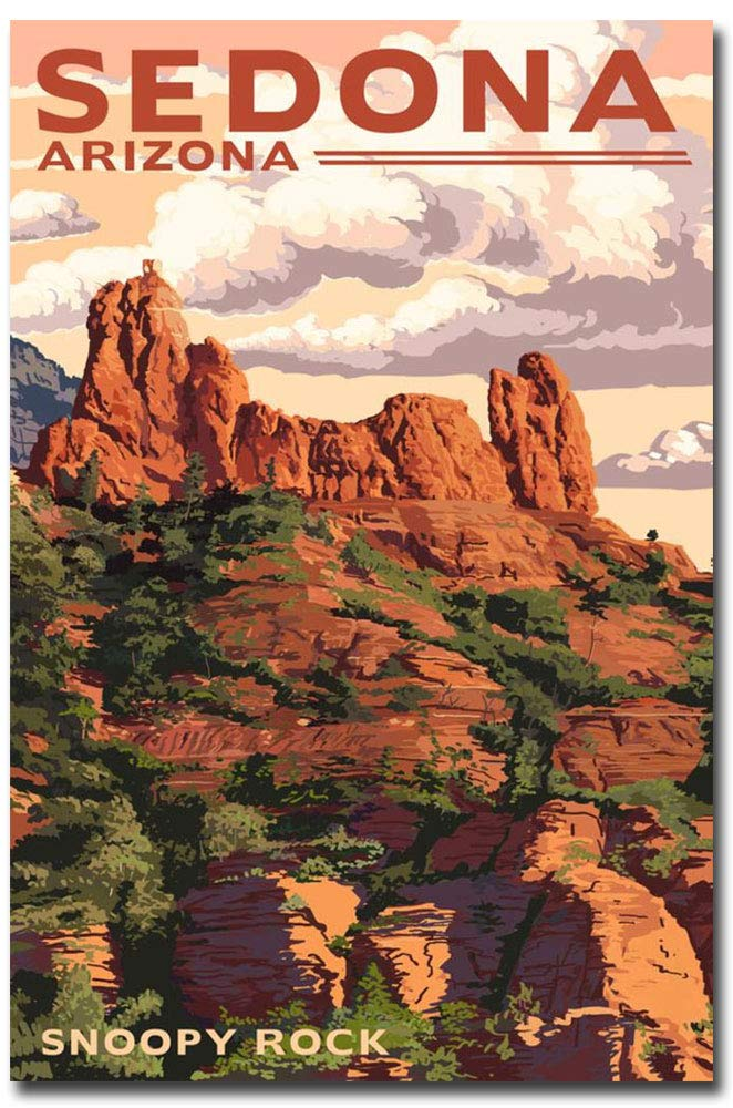 "Sedona Arizona Snoopy Rock Travel Art Refrigerator Magnet Size 2.5"" x 3.7"""