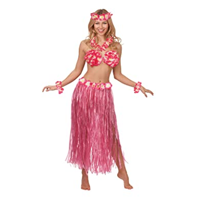 dd630c5f0e Hot Pink Hawaiian Honey Summer Beach Party Girl Fancy Dress Costume ...