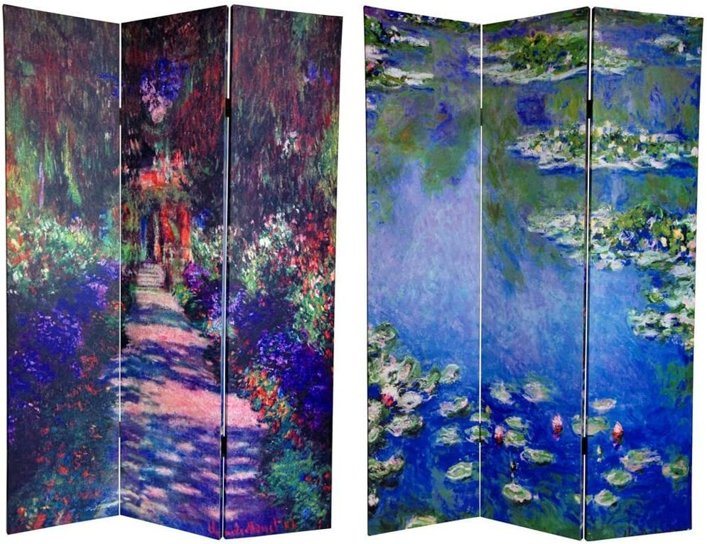 Oriental Furniture Unique Decorative Folding Floor Screen 6-Feet Tall Double Printed Music Photo Art Print Room Divider