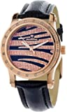 "JBW Women's JB-6224L-N ""Starlight"" Zebra Petite Rose Gold Diamond Watch"
