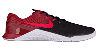 321154f4860 Image Unavailable. Image not available for. Color  Nike Men s Metcon 3  Training Shoe Black Siren Red Team Red White Size