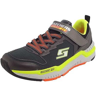 Skechers Hyperjolt Spectrode Jungen Sneaker charcoal/black/lime, Gr. 30