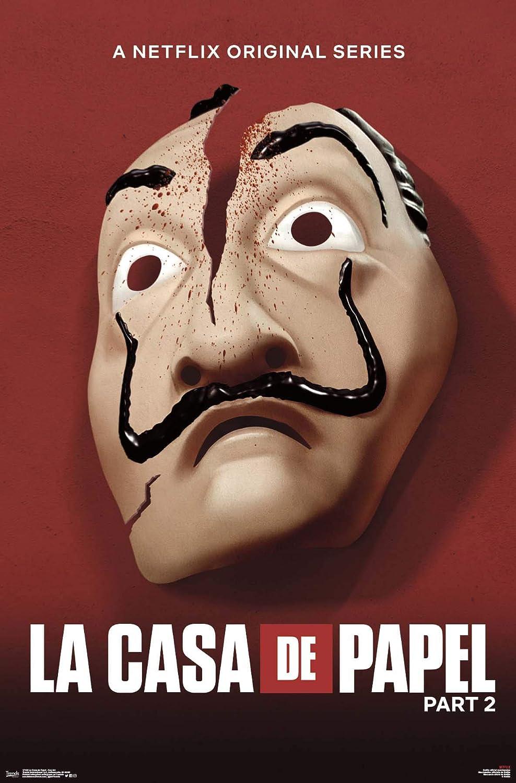 Trends International La Casa De Papel - Key Art Wall Poster, 22.375