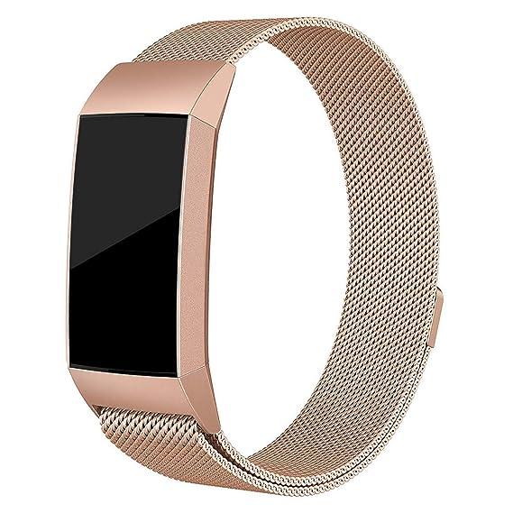 Correa Compatible para Fitbit Charge 3 Bandas magnéticas de ...