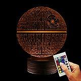 Lámpara decorativa de Star Wars, Estrella de la Muerte, simulación de holograma 3D