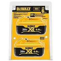 Deals on 2-Pack DEWALT 20V MAX Battery Premium 6.0Ah DCB206-2