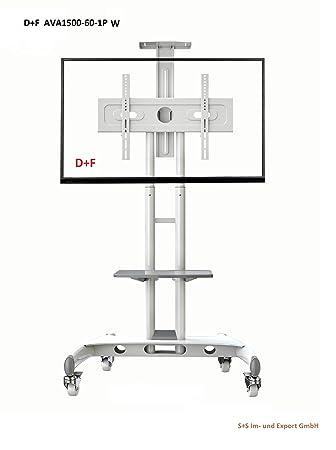 ava1500 - 60 - 1P Soporte Pie para LCD Plasma pantalla LED Monitor, TV Trolley, TV Carro, móvil con ruedas ruedas de acero blanco: Amazon.es: Electrónica