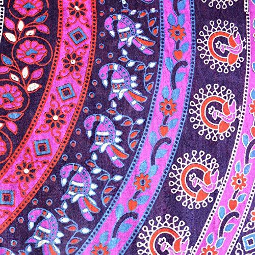 Sttoffa Longueur 38 Pouces Enrouler Autour De La Jupe De Rajasthani D3 Pourpre