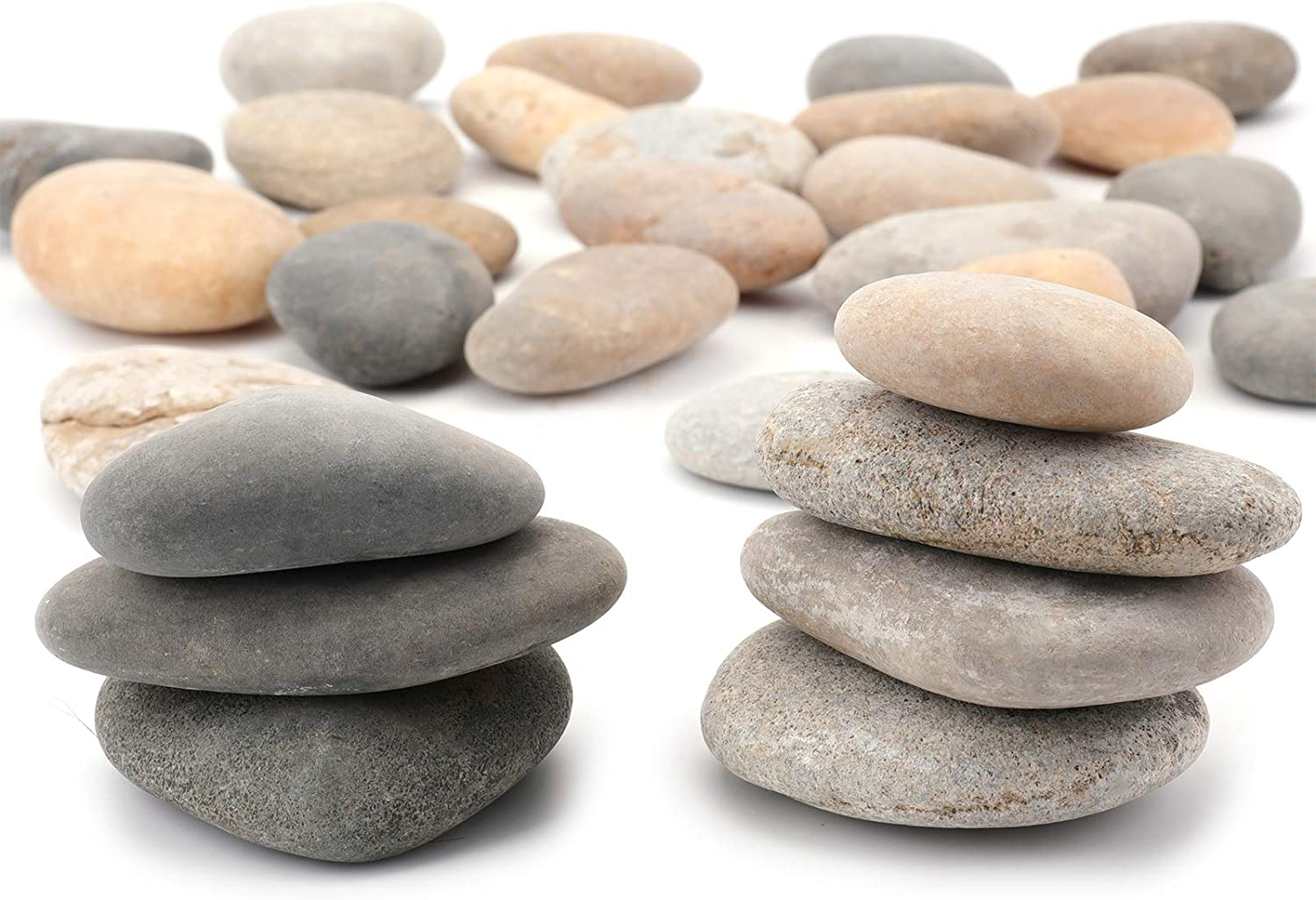 Bekith 6 Pounds 2-3 inch Rocks for Painting Kindness Rocks, River Natural Smooth Surface Arts & Crafting Rock Painting Supplies for Kid Painters, Gift for Kids and Adults Outdoor Rock Art Garden Decor