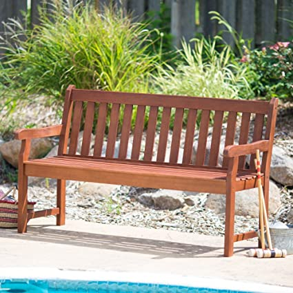 Prime Coral Coast Amherst Straight Back Outdoor Wood Garden Bench Ibusinesslaw Wood Chair Design Ideas Ibusinesslaworg