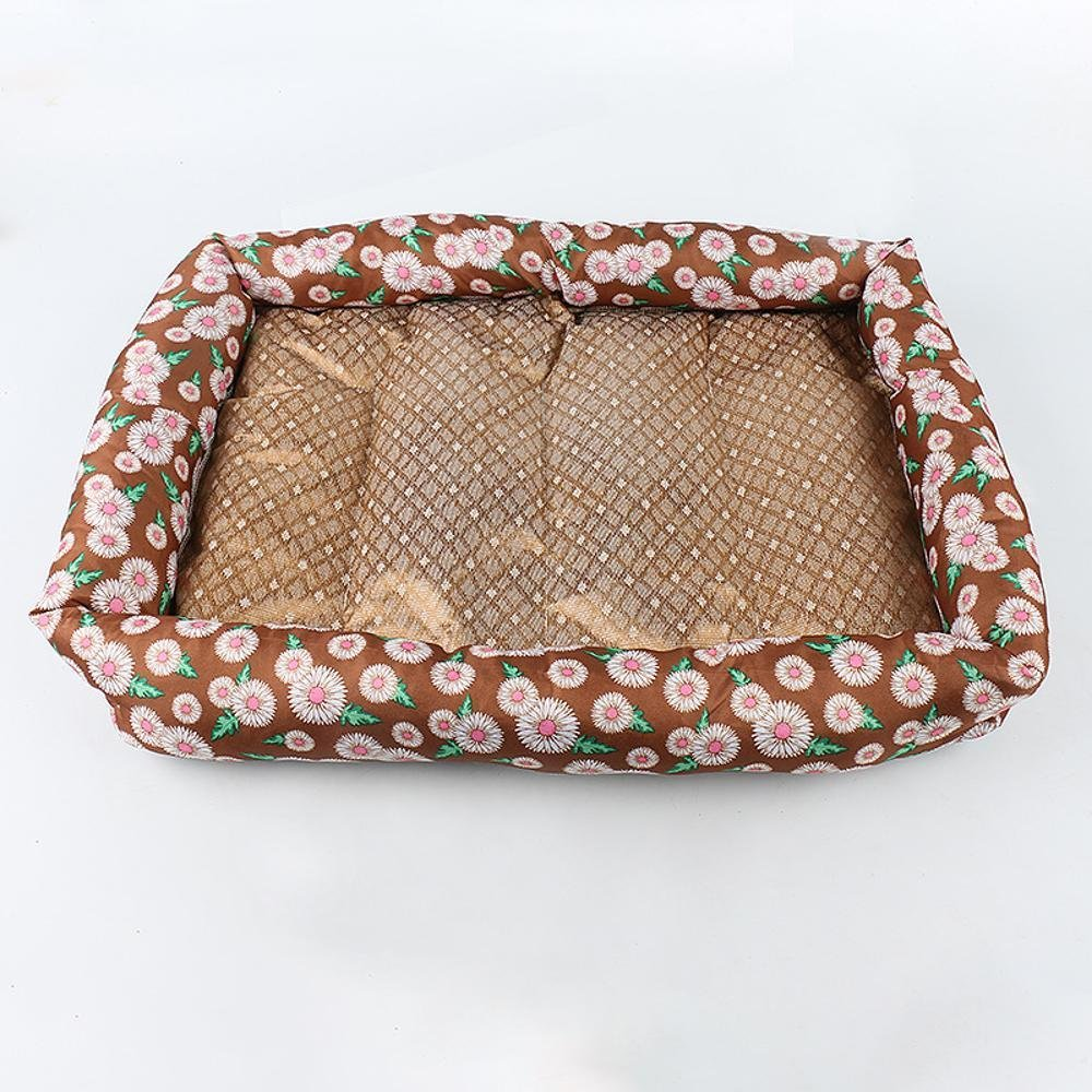5847cm Aoligei Pet Mat Imitation Cotton Fabric + ice Silk Grass Cat Kennel Perfect for Sunbathing mat, Nap&Sleeping Bed