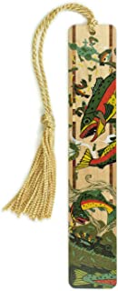 product image for Mitercraft Trout, Fish - Art by Jenny Pope, Colorful Wooden Bookmark with Tassel
