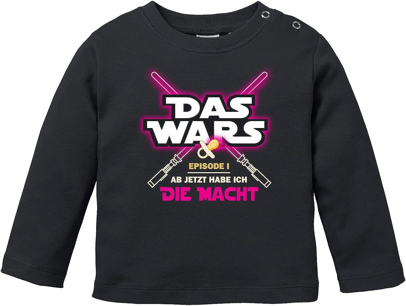 MoonWorks/® Baby Langarmshirt Babyshirt Das Wars ab jetzt Habe ich die Macht Jungen M/ädchen Shirt