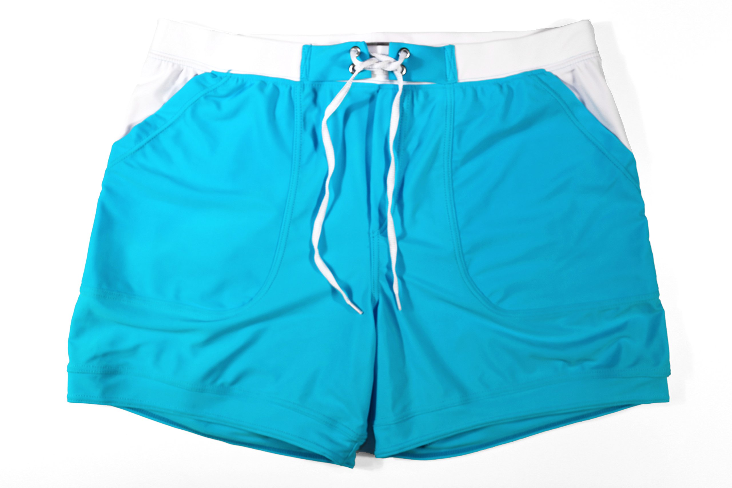 e498a2c4cc Taddlee Men Swimwear Solid Basic Long Swim Boxer Trunks Board Shorts  Swimsuits, Blue, Small - 4331231914 < Briefs < Clothing, Shoes & Jewelry -  tibs