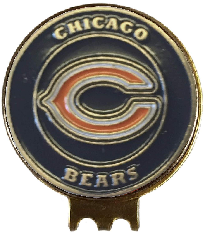 シカゴベアーズ ゴルフボールマーカー 帽子クリップ付き 真鍮ギフト アイディア NFL   B07JKFLX6P