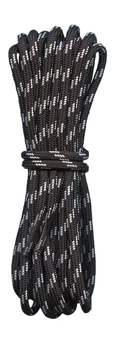 f53746d1fd77d Amazon.com: Hiking Boot Laces- Black with Grey flecks - 3/16 ...