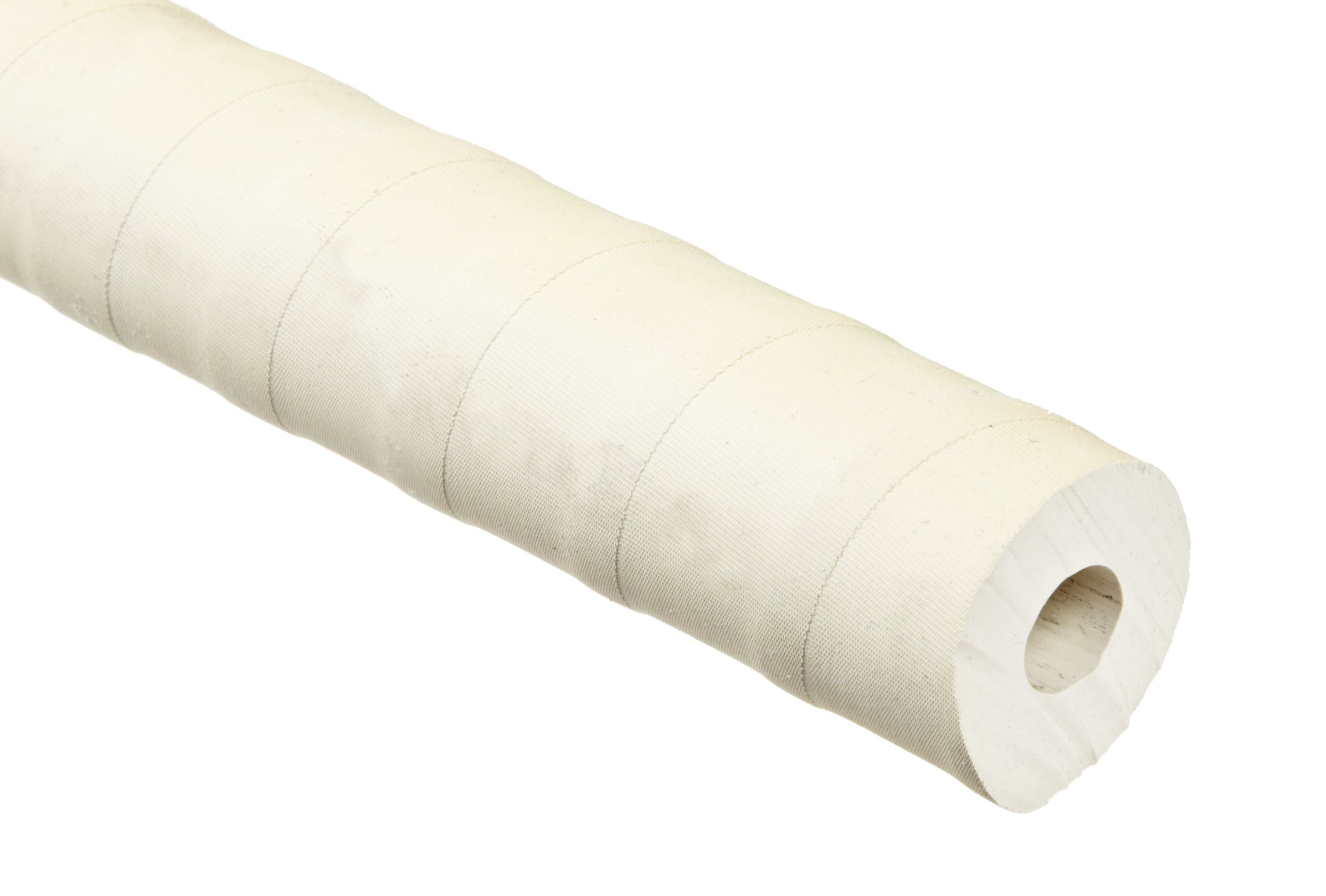 Abrasion-Resistant Gum Rubber Tubing, Rated for Vacuum, Very Flexible, Tan, Opaque, 45A Durometer, 1/2'' ID, 1-1/4'' OD, 3/8'' Wall, 10' Length