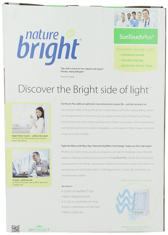 amazon com naturebright suntouch plus light and ion therapy lamp