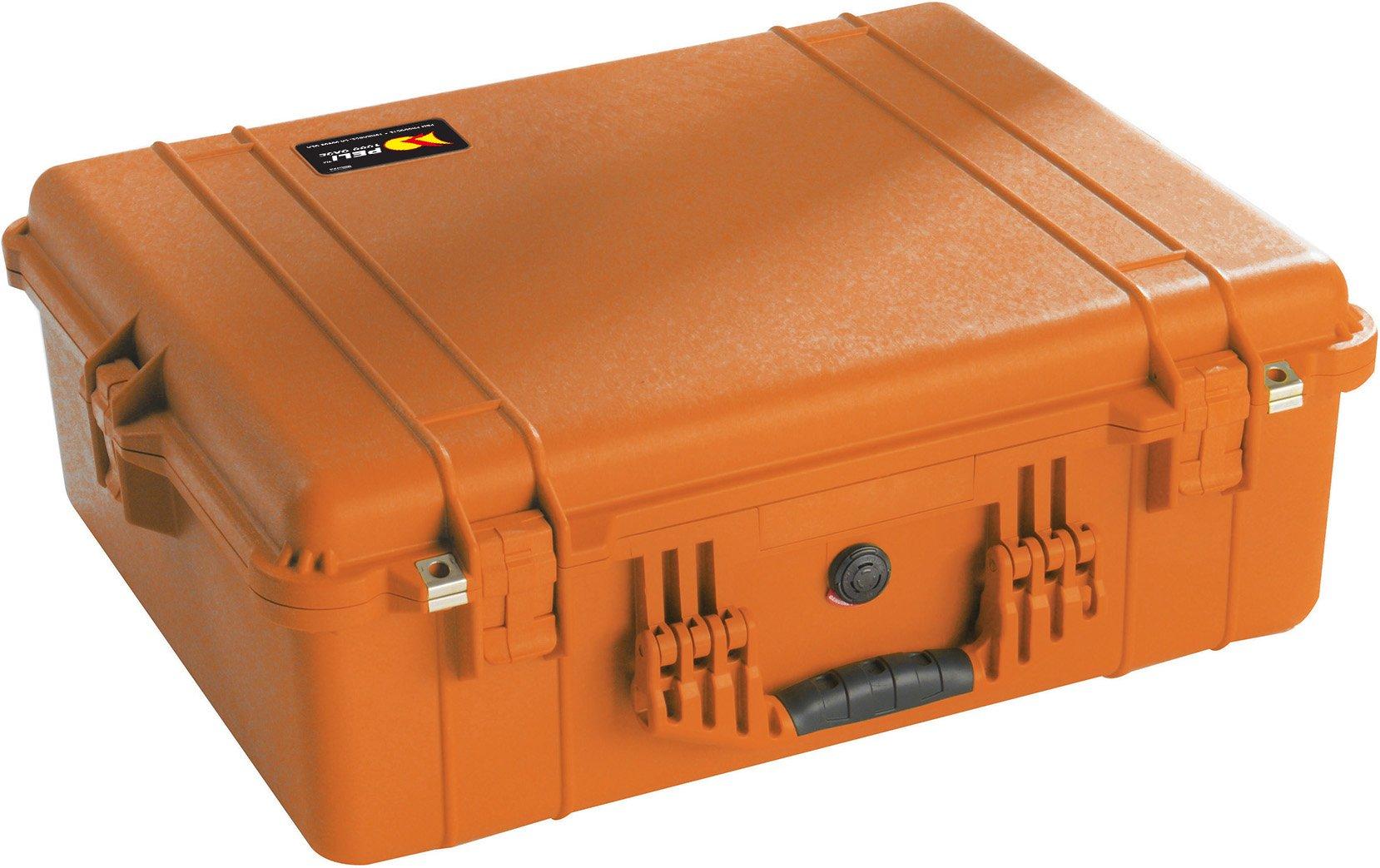 Peli 1600 with Foam, Orange