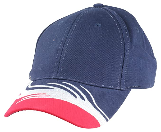 4cce3a09906 Blank Hat Two Toned Flare Cap in Red and Navy Blue at Amazon Men s ...
