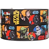 """Star Wars 1"""" Wide Repeat Ribbon Sold in Yard Lots (5 yards)"""