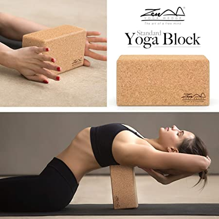ZenYogaWedge - Bloque de Corcho para Yoga (100% Natural ...