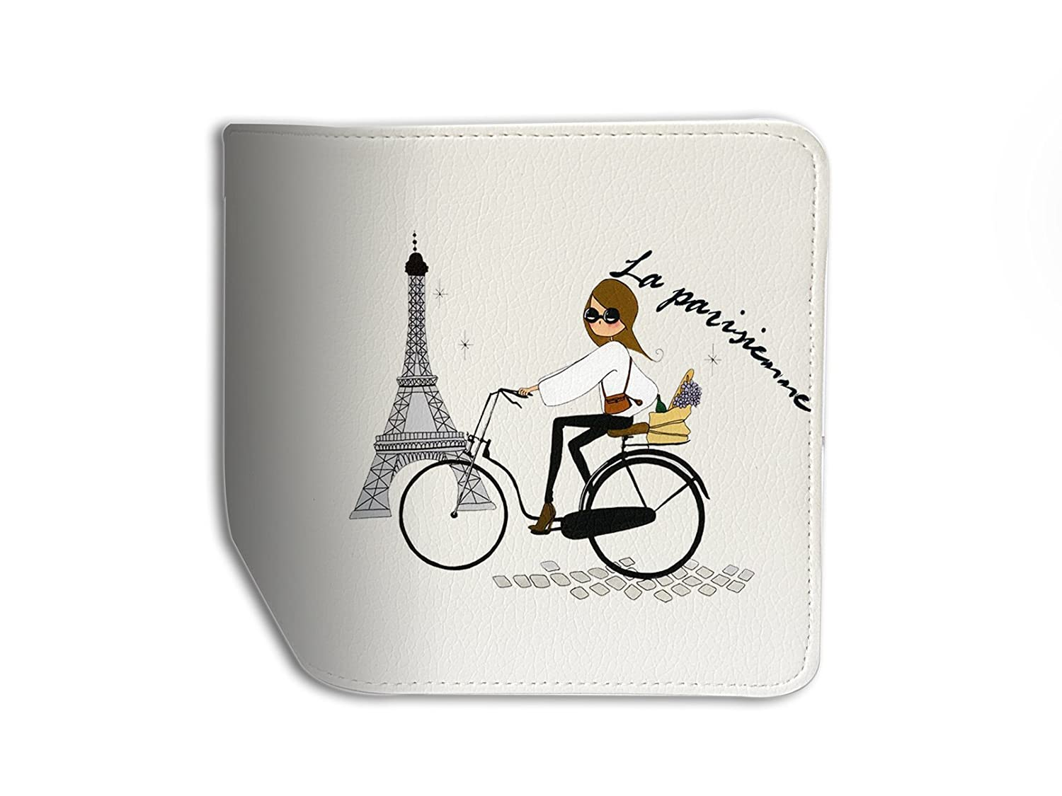 La Parisienne Effel Tower Leather Business ID Passport Holder Protector Cover /_SUPERTRAMPshop