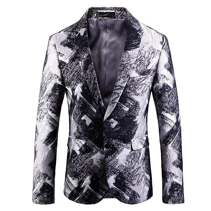HX fashion Blazer da Smoking per Uomo e853a82b4a8