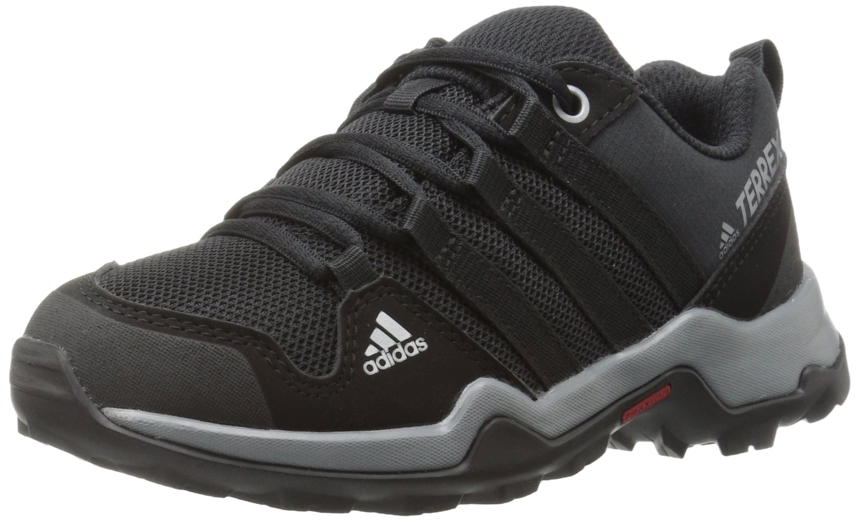 adidas outdoor Terrex AX2R Hiking Boot, Black/Vista Grey, 3.5 Child US Big Kid