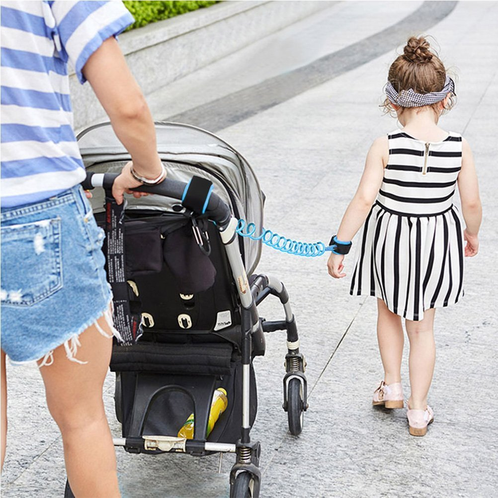 OFNMY Baby Safety Harness Backpack Toddler Walking Safety Harness Rein for Kids Anti Lost Wristband Toddler Reins for Walking