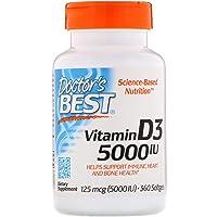 Doctor's Best, (2 Pack) Vitamin D3, 125 mcg (5000 IU), 360 Softgels