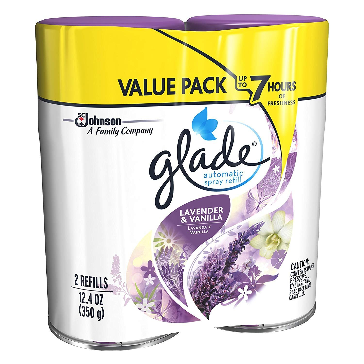 Glade Automatic Spray Refill - Lavender & Vanilla, 6.2 oz, Pack - 3, (6 Count) by Glade (Image #4)