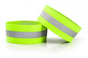 High Visibility Reflective Wristbands (pair) made by Road ID