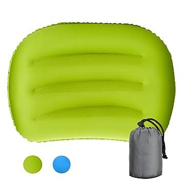Almohada hinchable ligera para acampada, almohada de viaje ...
